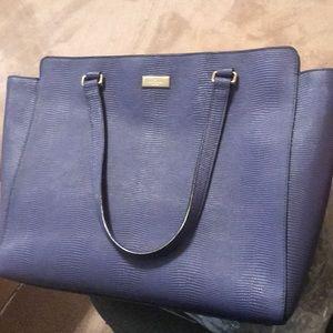 Kate Spade navy textured handbag